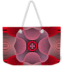 Weekender Tote Bag featuring the digital art Kal - 37bc77 by Variance Collections