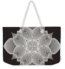 Weekender Tote Bag featuring the digital art Kal - 71c89 by Variance Collections
