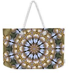 Weekender Tote Bag featuring the digital art Kaleidoscope 130 by Ron Bissett