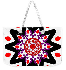 'alien Head' Kaleidoscope Weekender Tote Bag