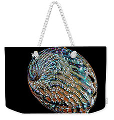 Weekender Tote Bag featuring the photograph Kaleidoscope Abalone by Rikk Flohr