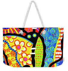 Kaleidoscope Butterfly Weekender Tote Bag