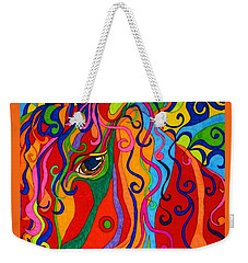 Weekender Tote Bag featuring the painting Kaleidoscope Eyes 2016 by Alison Caltrider