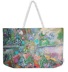 Kaleidoscope Fairies Too Weekender Tote Bag by Judith Desrosiers