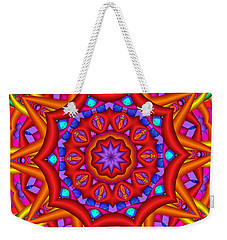Kaleidoscope Flower 02 Weekender Tote Bag