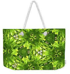 Kaleidoscope Flower Weekender Tote Bag by Julia Wilcox