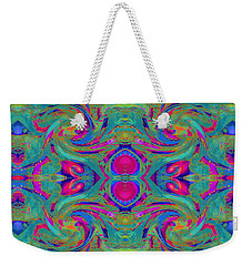 Kaleidoscope Heart Weekender Tote Bag