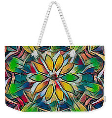 Kaleidoscope In Stained Glass Weekender Tote Bag