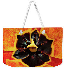 Kaleidoscopic Floral Weekender Tote Bag