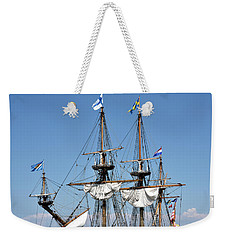Kalmar Nyckel - Docked In Lewes Delaware Weekender Tote Bag