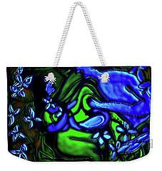 Weekender Tote Bag featuring the digital art Kalyana Sawgandhika Flowers by Latha Gokuldas Panicker