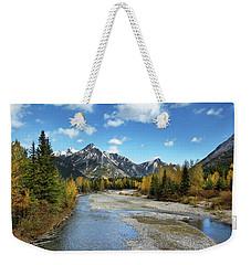 Kananaskis River In Fall Weekender Tote Bag