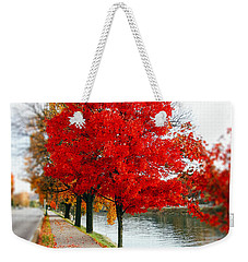 Kanawha Boulevard In Autumn Weekender Tote Bag by Shane Holsclaw