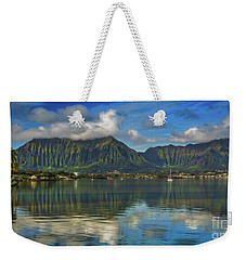 Kaneohe Bay Oahu Hawaii Weekender Tote Bag