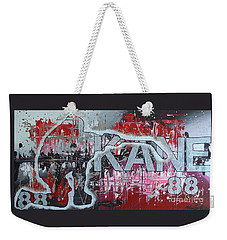 Weekender Tote Bag featuring the painting Kaner 88 by Melissa Goodrich
