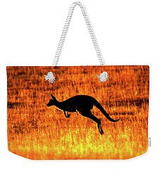 Kangaroo Sunset Weekender Tote Bag by Bruce J Robinson