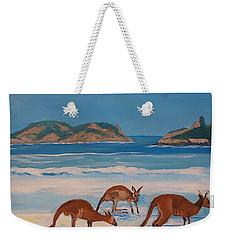 Kangaroos On The Beach Weekender Tote Bag