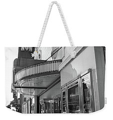 Weekender Tote Bag featuring the photograph Kansas City - Gem Theater 2 Bw  by Frank Romeo