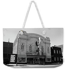 Weekender Tote Bag featuring the photograph Kansas City - Gem Theater Bw by Frank Romeo