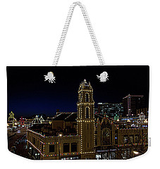 Weekender Tote Bag featuring the photograph Kansas City Plaza Lights by Tim McCullough