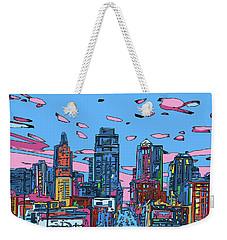 Kansas City Skyline Panorama 4 Weekender Tote Bag
