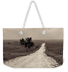 Kansas Country Road Weekender Tote Bag