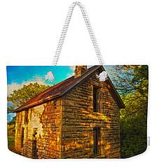 Kansas Countryside Stone House Weekender Tote Bag