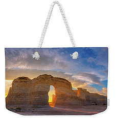 Weekender Tote Bag featuring the photograph Kansas Gold by Darren White