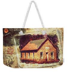 Kansas Old Stone Schoolhouse Weekender Tote Bag
