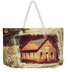 Kansas Old Stone Schoolhouse Weekender Tote Bag