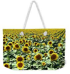 Kansas Sunflower Field Weekender Tote Bag