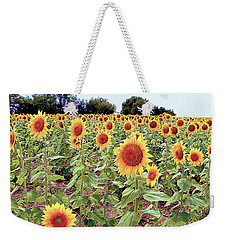 Kansas Sunflower Field Weekender Tote Bag