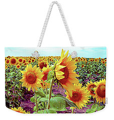 Kansas Sunflowers Weekender Tote Bag
