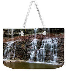 Kansas Waterfall 3 Weekender Tote Bag by Jay Stockhaus