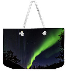Weekender Tote Bag featuring the photograph Kantishna Northern Lights In Denali National Park by Brenda Jacobs