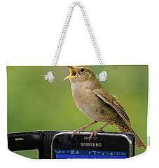 Karaoke Wren Weekender Tote Bag