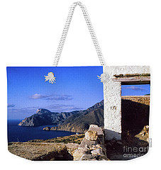 Weekender Tote Bag featuring the photograph Karpathos Island Greece by Silvia Ganora