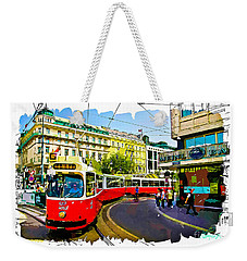 Weekender Tote Bag featuring the photograph Kartner Strasse - Vienna by Tom Cameron