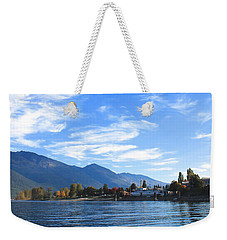 Weekender Tote Bag featuring the photograph Kaslo by Cathie Douglas