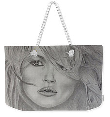 Kate Moss Fashion Model Weekender Tote Bag