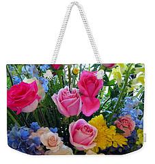 Kate's Flowers Weekender Tote Bag by Carla Parris