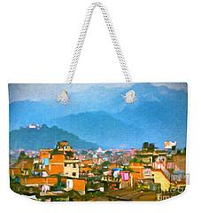 Weekender Tote Bag featuring the painting Kathmandu, Nepal by Chris Armytage