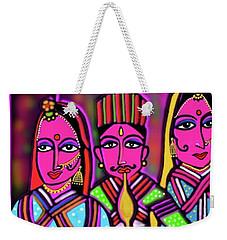 Weekender Tote Bag featuring the digital art Kathputli by Latha Gokuldas Panicker