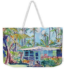 Kauai Blue Cottage 2 Weekender Tote Bag