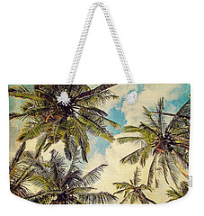 Kauai Island Palms - Blue Hawaii Photography Weekender Tote Bag by Melanie Alexandra Price