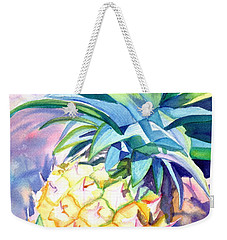 Weekender Tote Bag featuring the painting Kauai Pineapple 3 by Marionette Taboniar