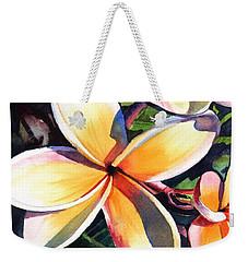 Kauai Rainbow Plumeria Weekender Tote Bag