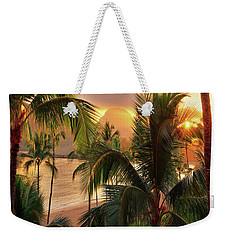 Olena Art Kauai Tropical Island View Weekender Tote Bag
