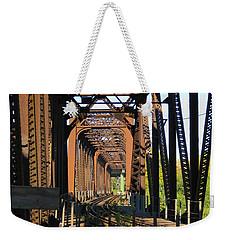 Kaw Point Railroad Bridge Weekender Tote Bag