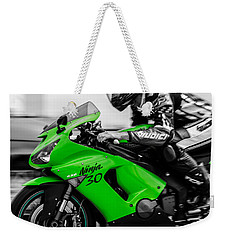 Kawasaki Ninja Zx-6r Weekender Tote Bag by Andrea Mazzocchetti
